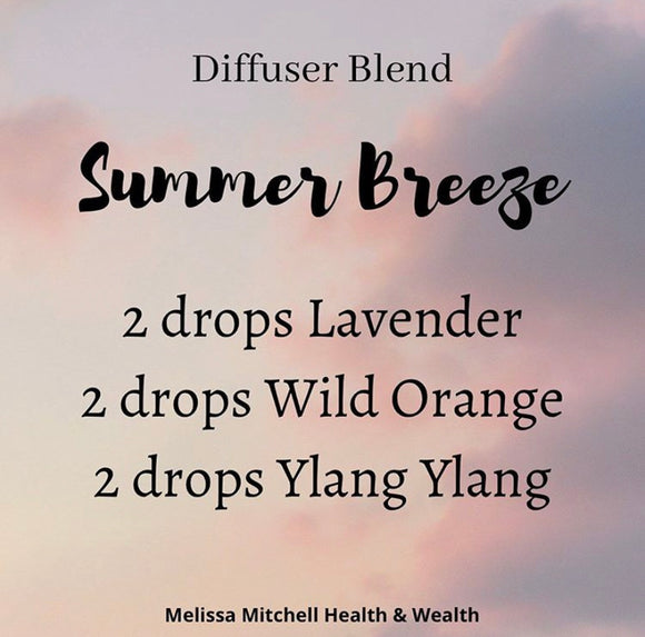 Summer Breeze Essential Oil Diffuser Blend - Melissa Mitchell Health & Wealth