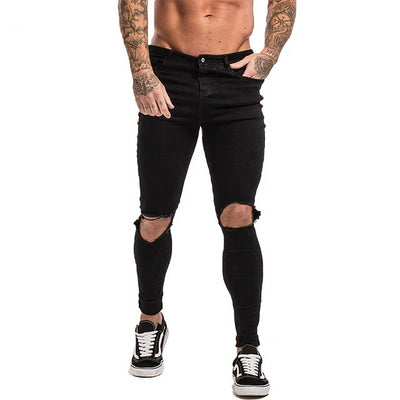 Men's Super Skinny Ripped Jeans V2-FITNESS ENGINEERING