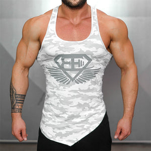 Men's Asymmetrical Camo Tank
