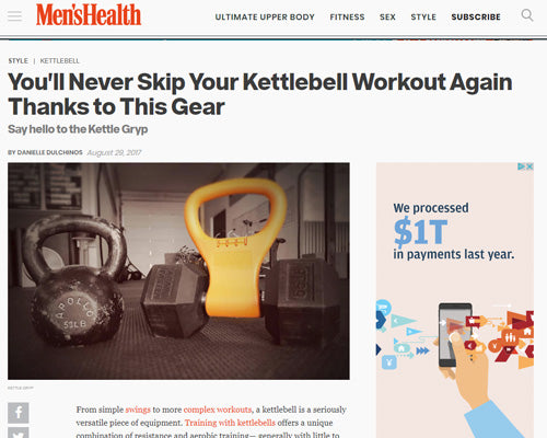 Kettle Gryp® Featured on Men's Health