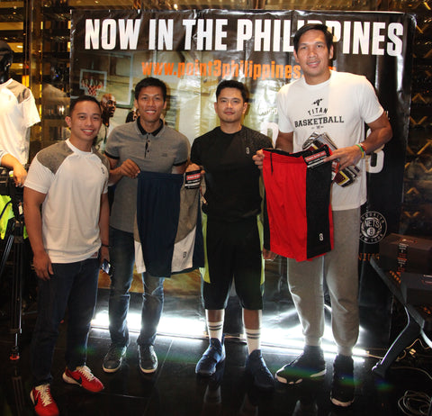with PBA superstars Junmar Fajardo and Mark Barroca