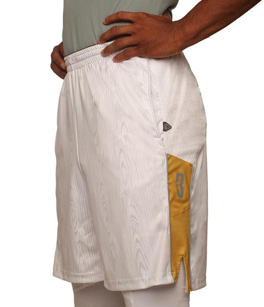 The Chip/White Wood DRYV Baller 3.0 Mens Dry Hand Zone Basketball Shorts