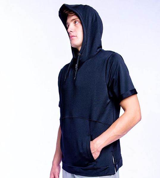 VERSA S/S HOODED WARM-UP TOP