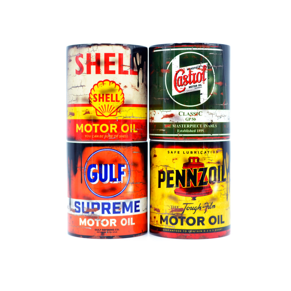 Set Of 4 Oil