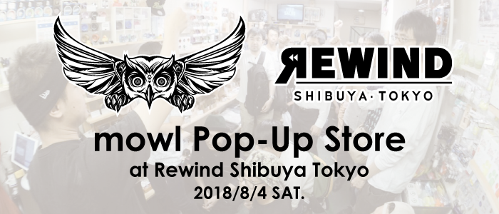mowl Pop-Up Store At REWIND Shibuya