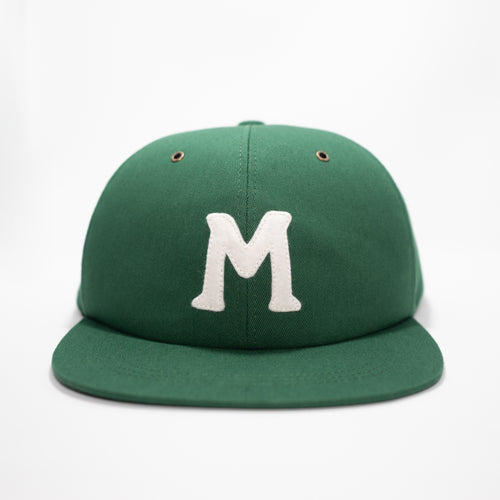mowl M Logo 6-Panel Cap Green