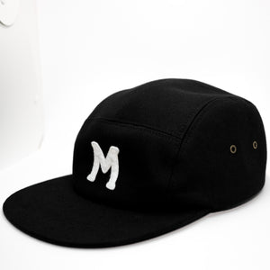mowl M Logo Camp Cap Black