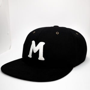 mowl M Logo 6-Panel Cap Black