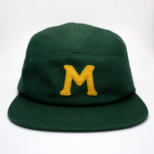 Load images into Gallery Viewer, mowl M Logo Camp Cap Green