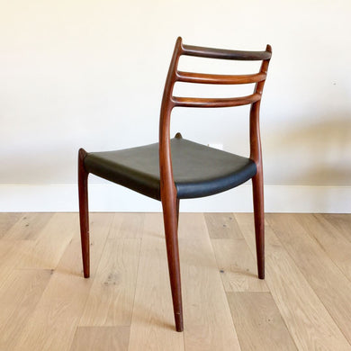 Four Model 78 Rosewood Dining Chairs by Niels Otto Møller for J. L. Møllers Møbelfabrik