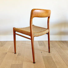 Six Model 75 Teak Dining Chairs by Niels Otto Møller for J. L. Møllers Møbelfabrik