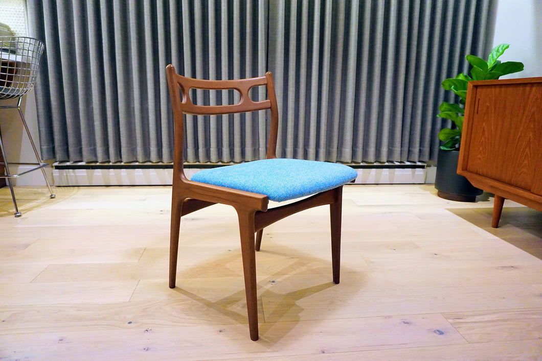 Six Johannes Andersen Model 138 Teak Dining Chairs for Uldum Mobelfabrik