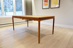 Rare Danish Teak Dining Table by Johannes Andersen for Christian Linneberg