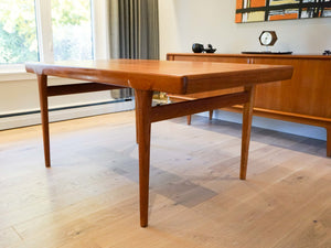 Teak Extendable Dining Table by Einar Hallas for Faarup
