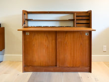Vintage Danish Modern Teak Bar by H.P. Hansen