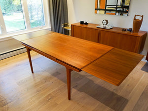 Large Teak Dining Table by Johannes Andersen for Uldum Møbelfabrik