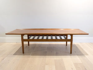 Grete Jalk Surfboard Teak Coffee Table