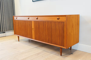 Danish Modern Tambour Door Credenza by Grete Jalk for Sibast