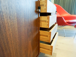 Florence Knoll Walnut Credenza for Knoll Associates
