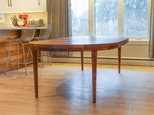 Beautiful Large Vintage Round Rosewood Extendable Dining Table