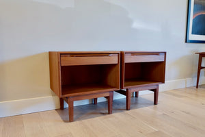 Ib Kofod-Larsen for Fredericia Danish Modern Teak Nightstands