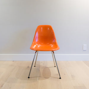 Herman Miller Vintage Fiberglass Shell Chairs (Red Orange)