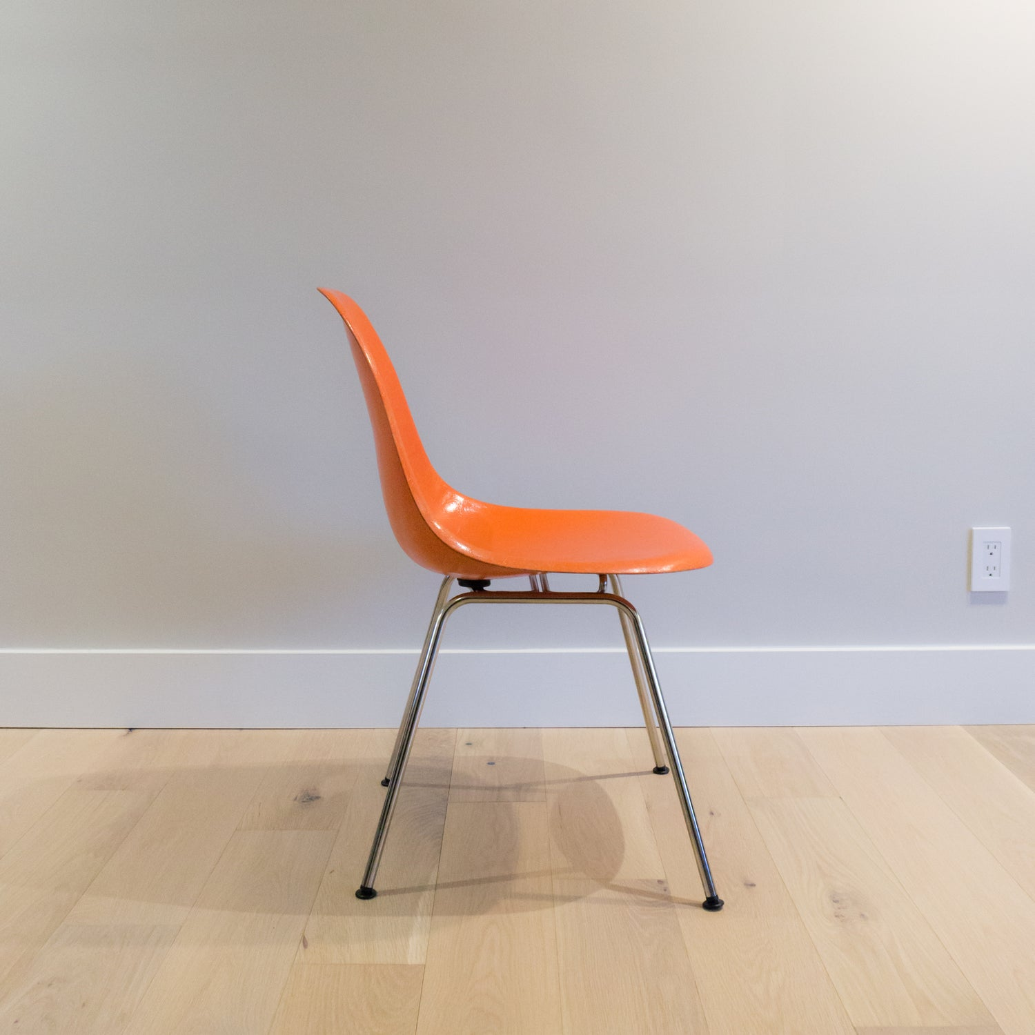 fiberglass shell chairs. herman miller vintage fiberglass shell chairs (red orange) l