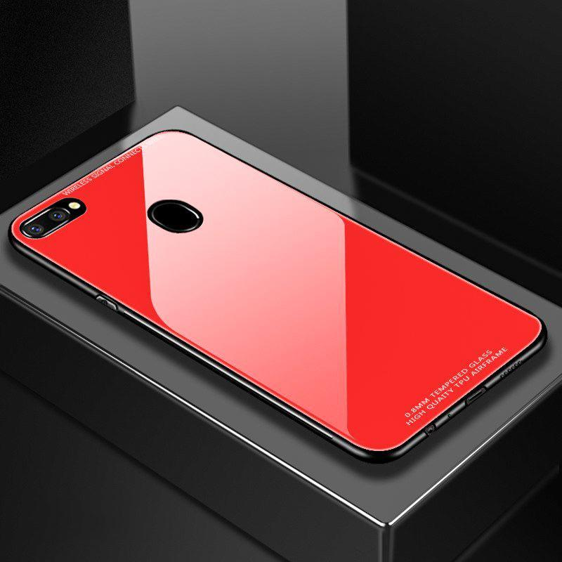 finest selection 437bb 202f6 Oppo F9 Pro Limited Edition Glass Back Silicone Cover