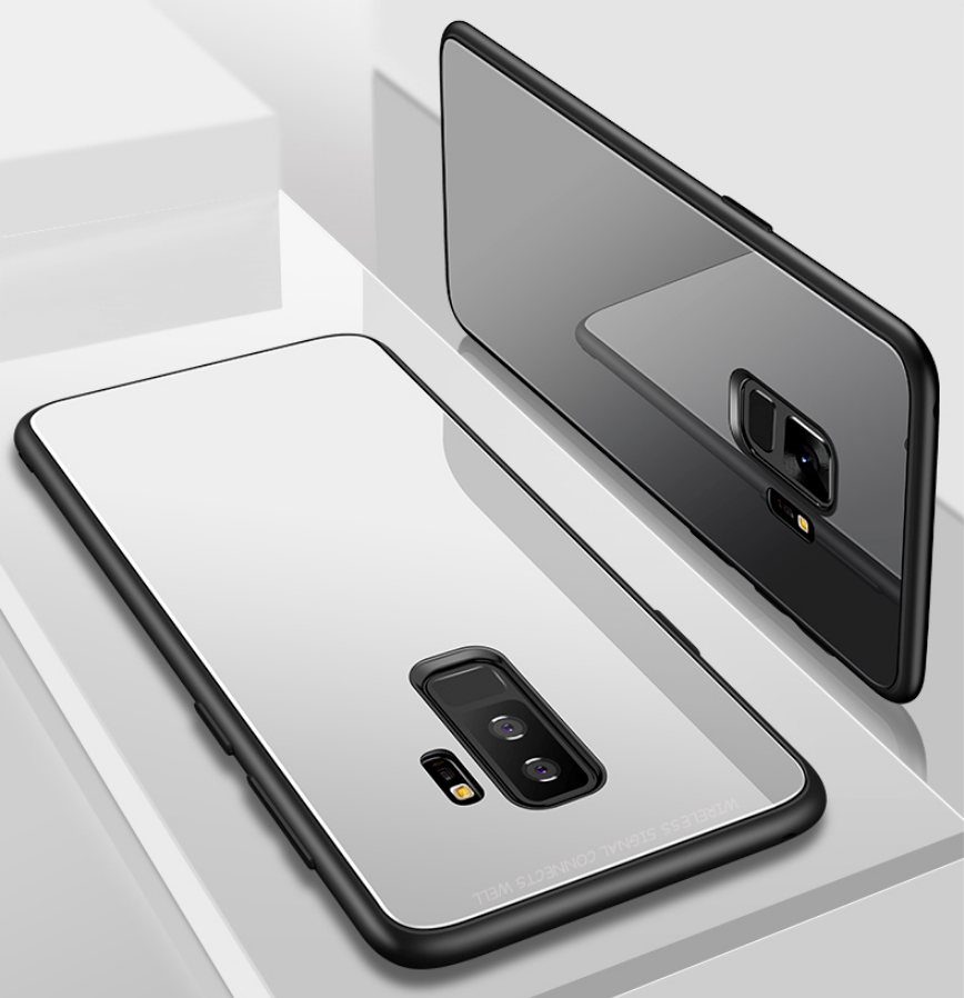 Galaxy A6, A6 Plus Limited Edition Glass Back Silicone Cover