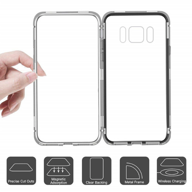 buy popular dd25a da83b Galaxy S9, S9+, Note 8, S8, S8+, S7 Edge Electronic Auto-Fit Magnetic Case