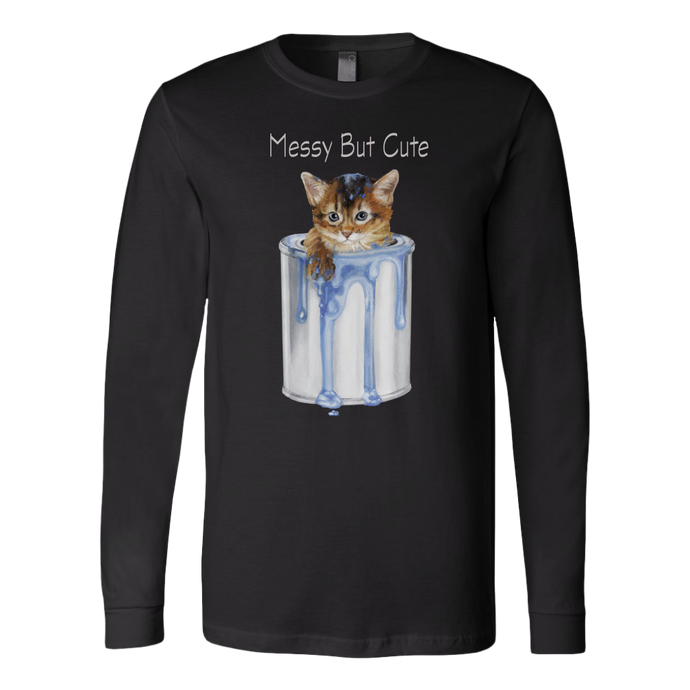 Messy But Cute Cat Long Sleeve - various colours