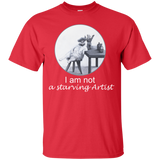 Red Short-Sleeve Unisex Cat TShirt from Artisticat
