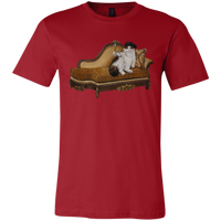 Red Artists Unisex Cat TShirt - Cats Without Words collection from Artisticat