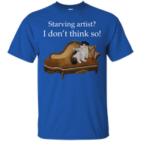 Blue Short-Sleeve Unisex Cat TShirt - Schmoozle collection from Artisticat