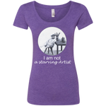 Purple Ladies' short sleeve cat tshirt for artists - Original collection from Artisticat