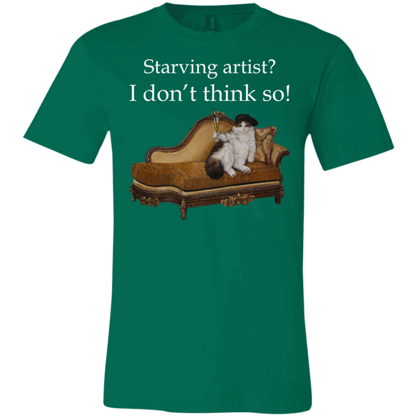 Green Short-Sleeve Unisex Cat TShirt from Artisticat
