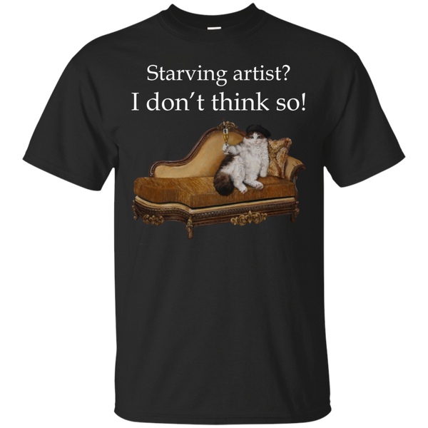 Black Short-Sleeve Unisex Cat TShirt - Schmoozle collection from Artisticat