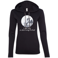 Black Ladies' Cat t HoLadies' Cat t Hoodie for artists from Artisticat