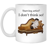 Cat Mug for Artists - Schmoozle collection from Artisticat
