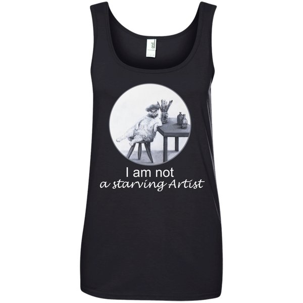 Black Ladies' Cat Tank for Artists - Original collection from Artisticat