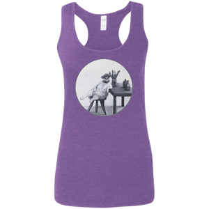 Purple Ladies' Cat Tank for Artists - Cats Without Words from Artisticat