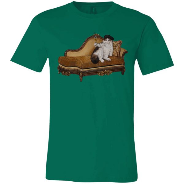 Green Artists Unisex Cat TShirt - Cats Without Words collection from Artisticat