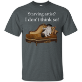 Grey Short-Sleeve Unisex Cat TShirt - Schmoozle collection from Artisticat
