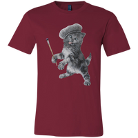 Cardinal Red  Unisex Jersey Cat TShirt - Crazy Kitten Collection from Artisticat