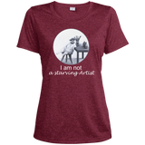 Dark Red Ladies tshirt for artists from Artisticat - Schmoozle Collection