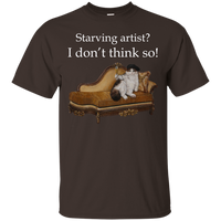 Brown Short-Sleeve Unisex Cat TShirt - Schmoozle collection from Artisticat