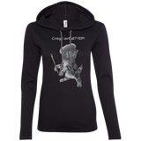 Black Ladies Hoodie in Grey or Black - Crazy Kitten Collection - Artistsicat