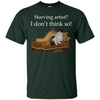 Green Short-Sleeve Unisex Cat TShirt - Schmoozle collection from Artisticat