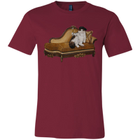 Maroon Artists Unisex Cat TShirt - Cats Without Words collection from Artisticat