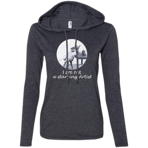 Grey Ladies' Cat t HoLadies' Cat t Hoodie for artists from Artisticat